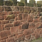 sand stone wall detail